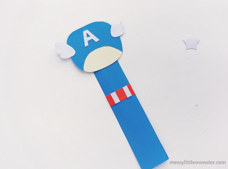 superhero bookmark craft for kids