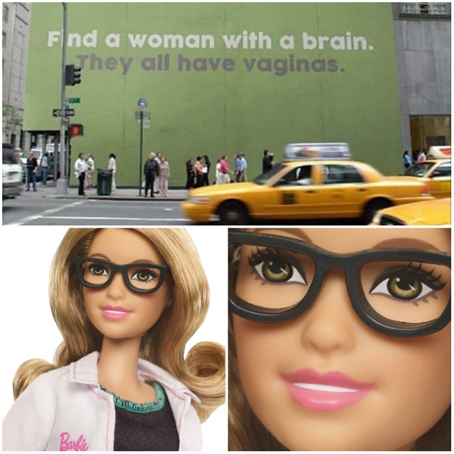 After seeing the mural on the building, Dr. Barbie felt personally attacked
