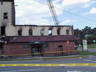 Aldo's Hideaway after the fire... 2004