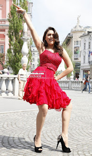Hansika Motwani in lovely Red Mini Dress Dance Stills 13 .xyz.jpg