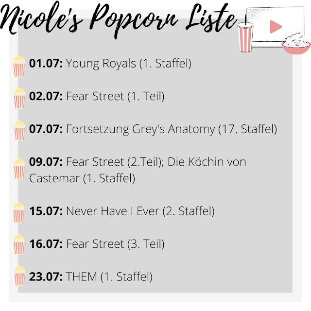 Popcorn Liste Streaming Neuheiten, Serien Talk, Serienjunkie