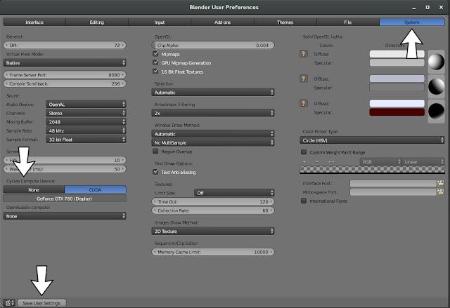 Configurando Blender para usar CUDA