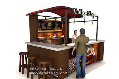 Jasa desain booth coffee shop unik menarik berpengalaman