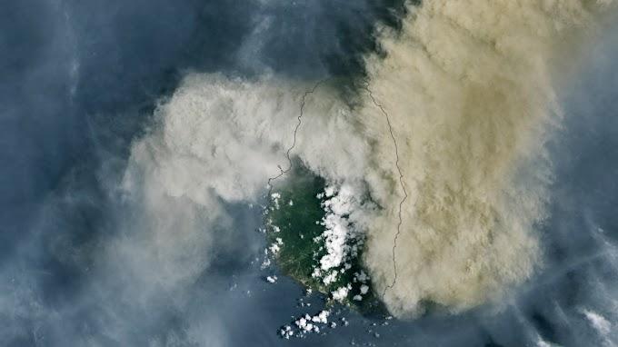 Félmillió tonnányi kén-dioxid jutott a sztratoszférába ami többlépcsős kémiai folyamattal kénsavvá alakul