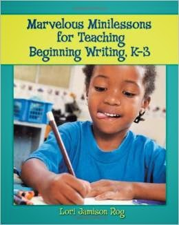 http://www.amazon.com/Marvelous-Minilessons-Teaching-Beginning-Writing/dp/0872075915/ref=sr_1_1?s=books&ie=UTF8&qid=1412127583&sr=1-1&keywords=marvelous+minilessons+for+teaching+beginning+writing+k-3