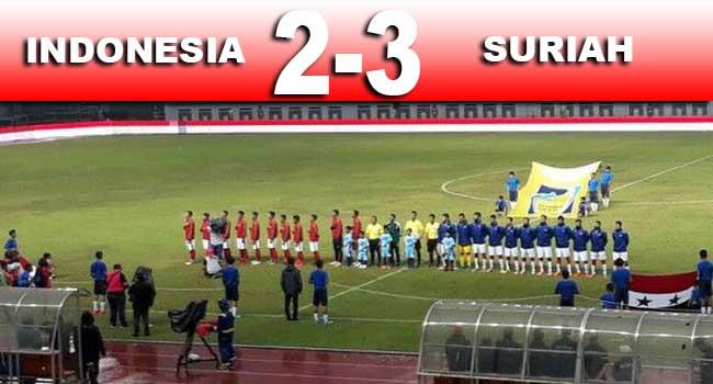 cuplikan gol indonesia vs suriah 2-3