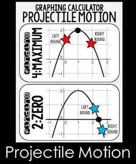 Projectile Motion Posters for a quadratics word problems unit