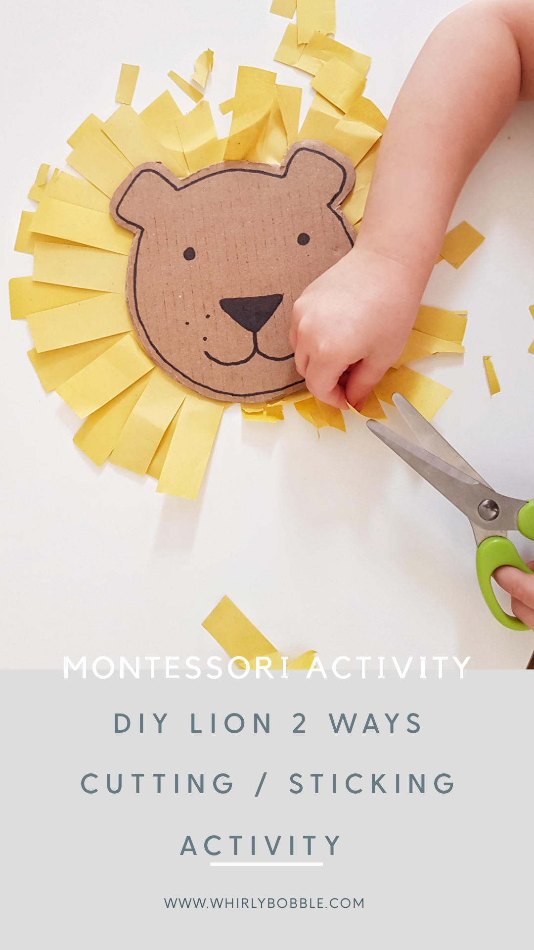 DIY lion face activity 2 ways