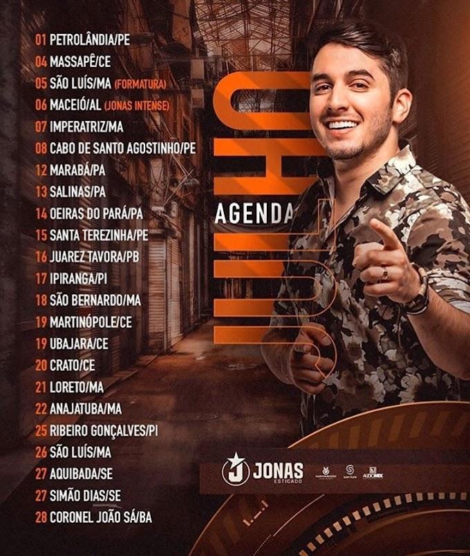 Agenda de Shows Jonas Esticado - Julho 2019
