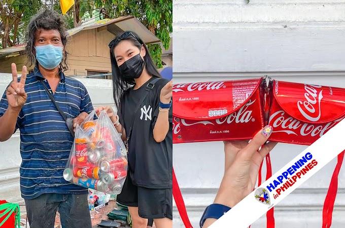 Bag na Gawa sa Mga Patapong Aluminum Softdrink Cans, Patok Ngayon sa Social Media!