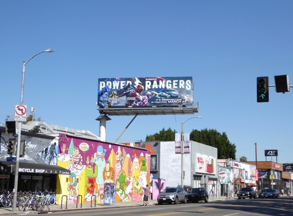Power Rangers 2017 billboard