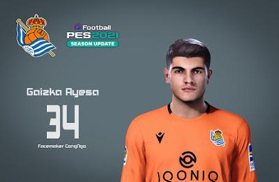 PES 2021 Faces Gaizka Ayesa by CongNgo