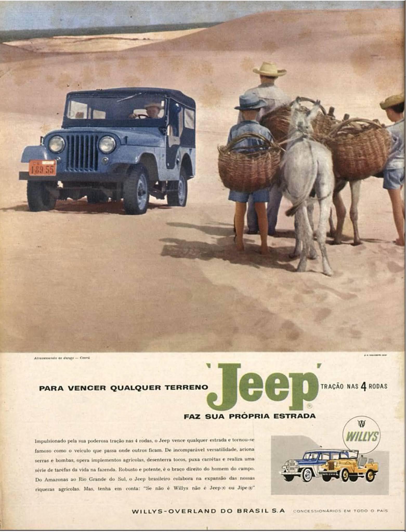 Propaganda da Willys promovendo o Jeep em 1959