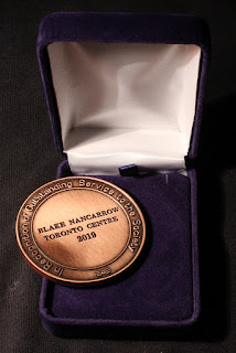 RASC Service Award medal back with name