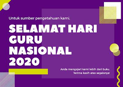 ucapan selamat hari guru nasional 25 november 2020