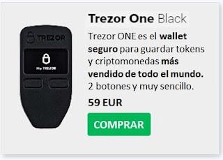 Comprar TREZOR ONE Con Mejor Precio Guardar Criptomonedas