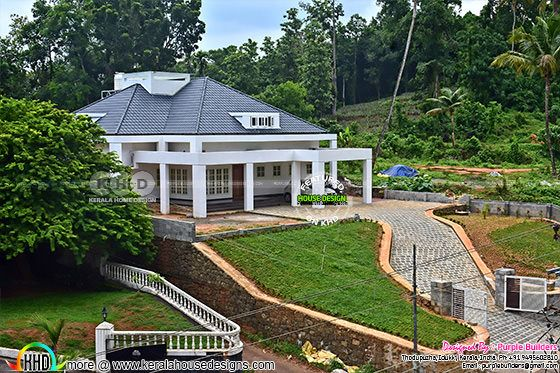 2910 sq-ft Finished sloped roof house in Kerala