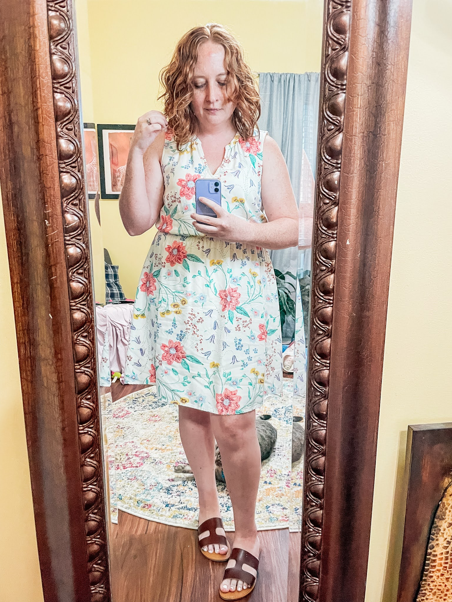 floral-waist-defined-dress
