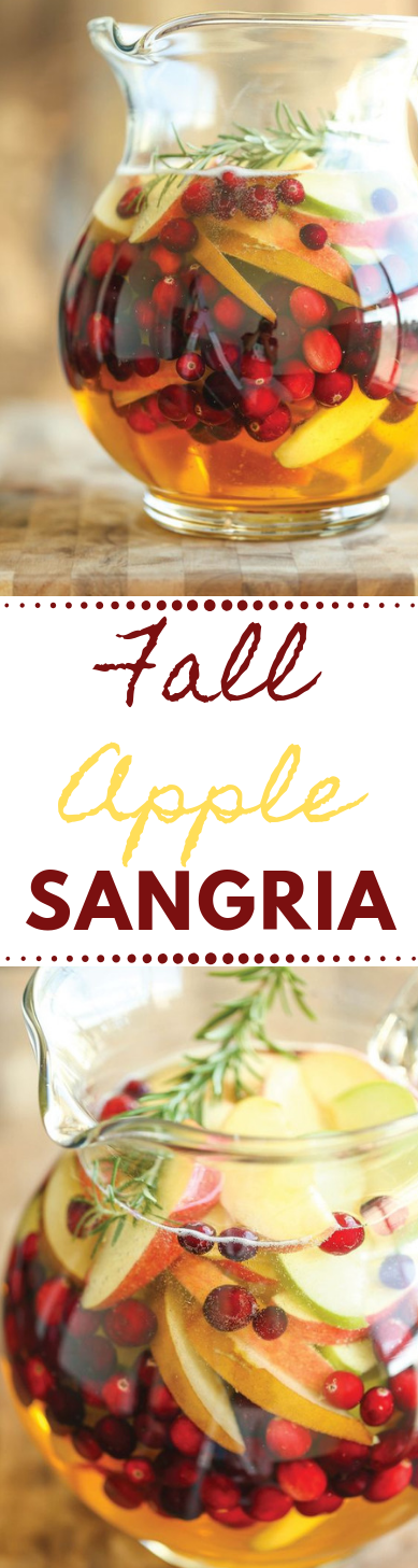 APPLE SANGRIA #sangria #apple #drink #healthyrecipes #cocktail
