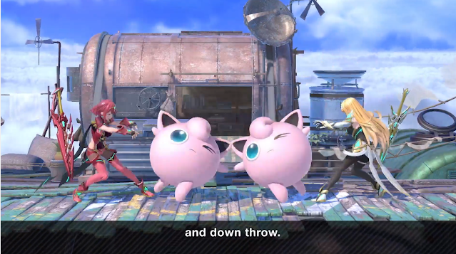Pyra Mythra grab Jigglypuff Super Smash Bros. Ultimate