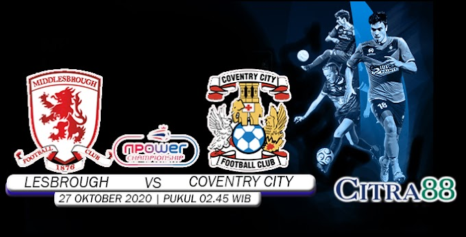 PREDIKSI MIDDc VS COVENTRY CITY 28 OKTOBER 2020