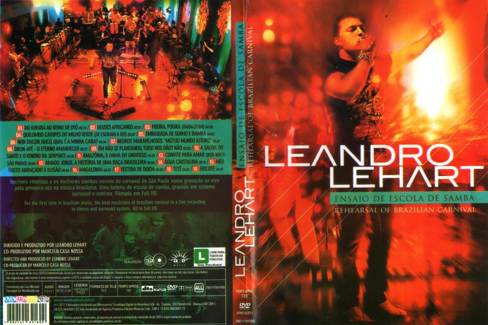 dvd leandro lehart ensaio de escola de samba