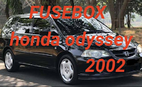 sekring fusebox HONDA ODYSSEY 2002