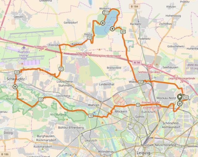 Leipzig Fluss fahrradzeit wochenende leipzig