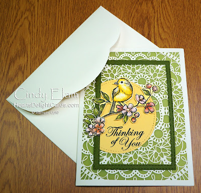 Heart's Delight Cards, Bird Ballad, Free As A Bird, Happy Mail, Thinking of You, Stampin' Up!