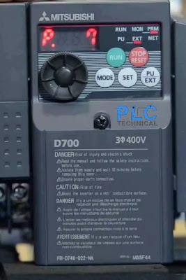 Parameter P7 Mitsubishi D700 drive