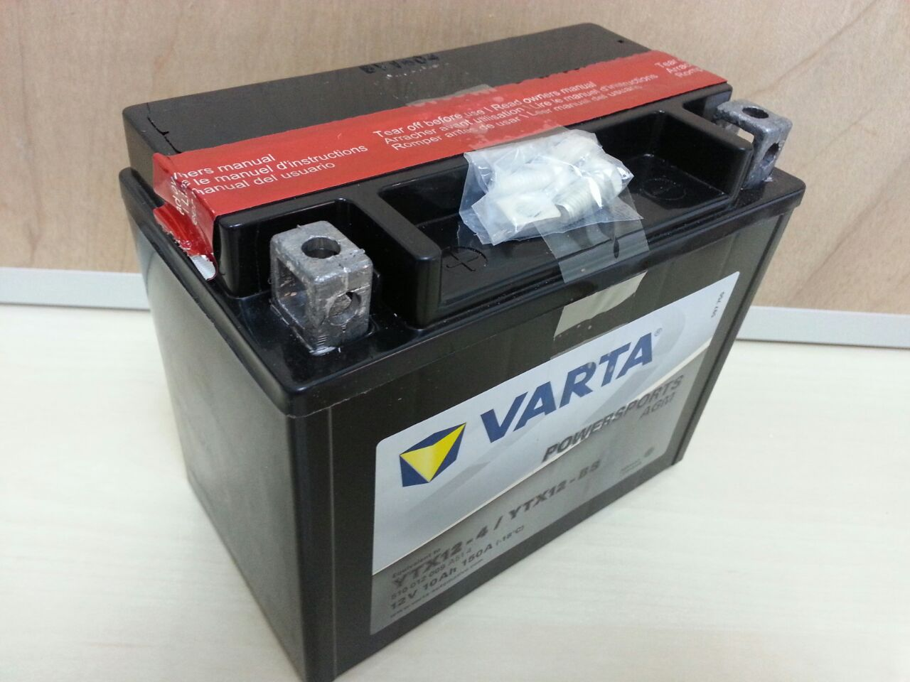 1a7dce3b306 Glow Battery: Varta Powersports AGM YTX12-BS
