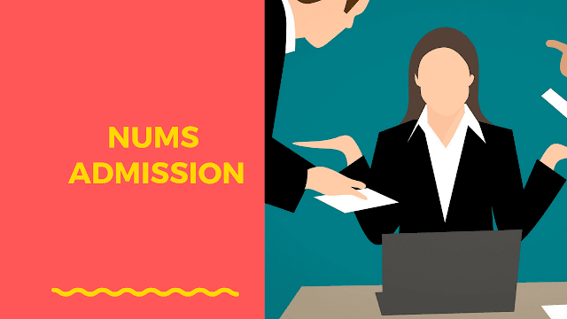 nums entry test 2019 step by step application procedure