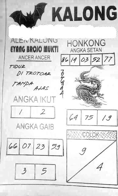Syair HK Kalong 12 April 2021