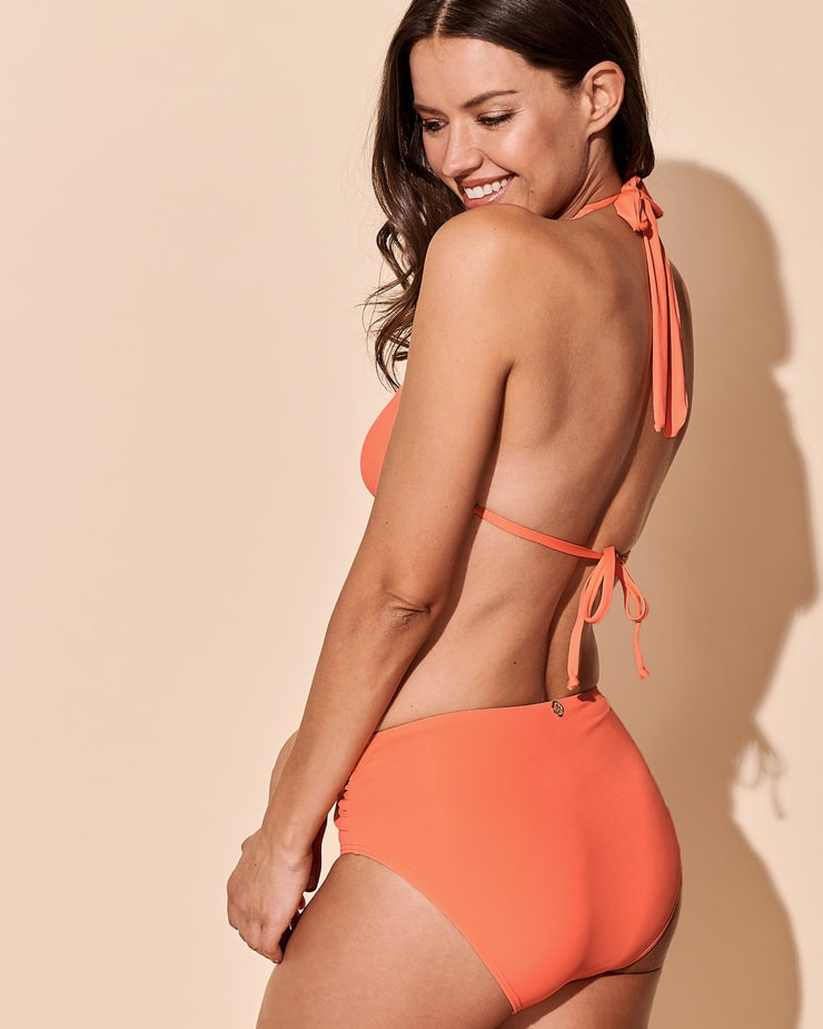 Michea Crawford Latest Hot Photoshoot in Orange Bikini