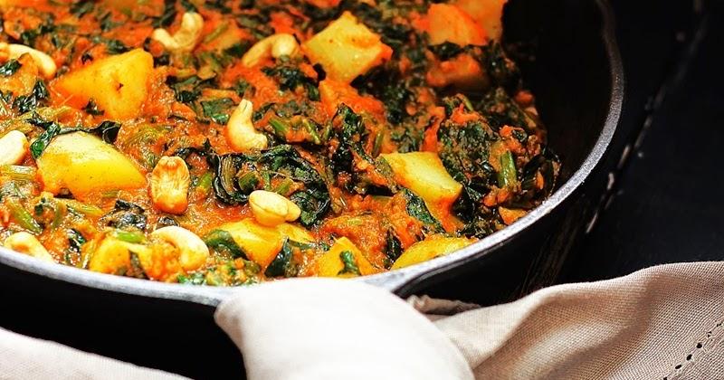 Jagruti S Cooking Odyssey Saag Aloo Spinach Potato