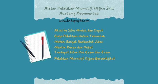 alasan pelatihan microsoft office skill academy recomended