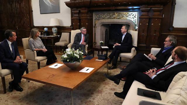 Mauricio Macri recibió al CEO de Visa Inc, Alfred Kelly