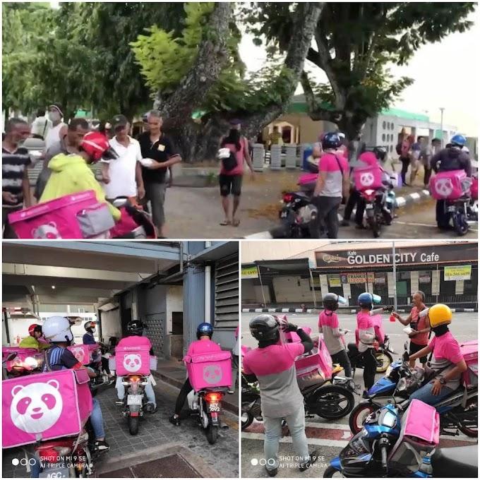 Rider Foodpanda Ipoh kumpul duit gaji, beri makan gelandangan - #kitajagakita