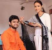 Anupriya Kapoor with her brother