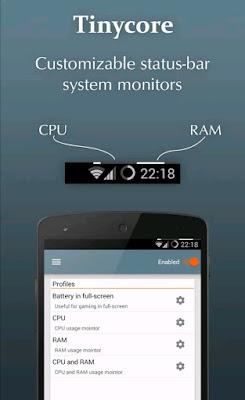 Tampilan aplikasi tinycore