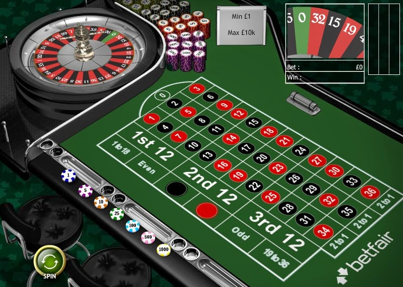 Betfair Roulette Screen