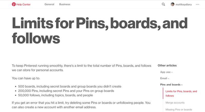pinterest的pin数量限制