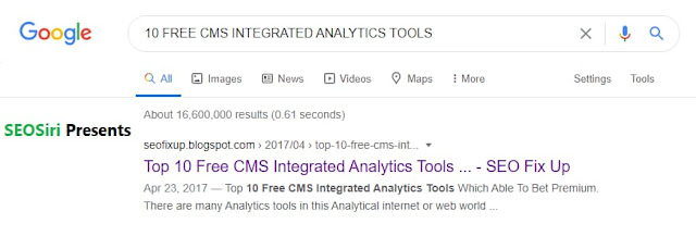 CMS integrated analytical tools (free)