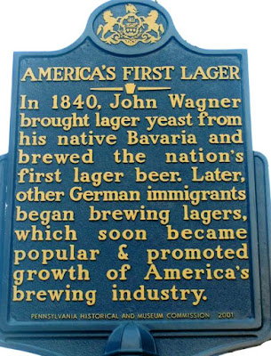 America's First Lager Historical Marker in Philadelphia Pennsylvania