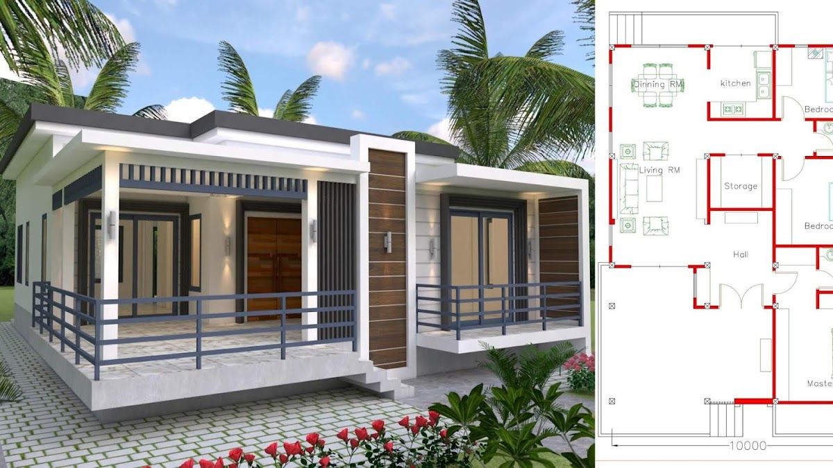 Plan Maison Moderne 3 Chambres Helios Plan