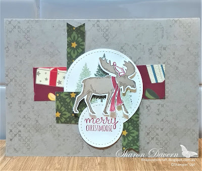 Merry Moose, Christmas Countdown, Night Before Christmas, One Sheet Wonder 6x6, Christmas Cards, Stampin' Up, Rhapsody in Craft, Art with heart