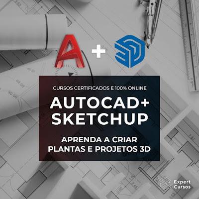 Cursos de AutoCAD e SketchUp