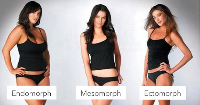 women showing their body types