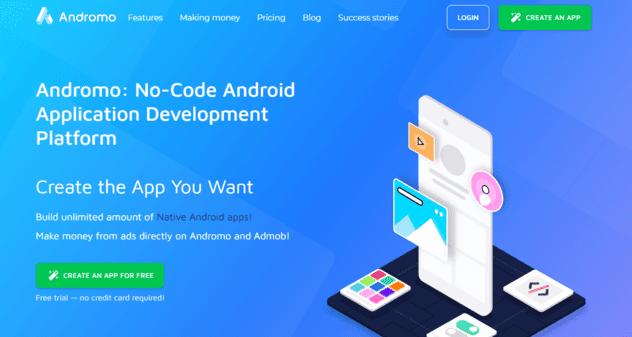 موقع اندرومو لصناعة التطبيقات