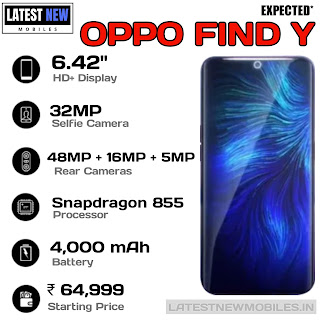 OPPO Find Y Key Specifications